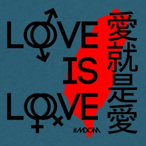 Love is Love TAIWAN - Men's V-Neck T-Shirt by Canvas