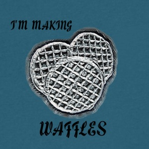 I'm Making Waffles - Men's V-Neck T-Shirt by Canvas