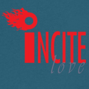 I Ncite Series love2 - Men's V-Neck T-Shirt by Canvas