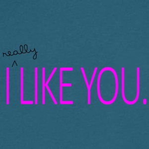 I really like you - Men's V-Neck T-Shirt by Canvas