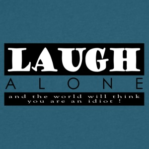 Laugh Alone - Men's V-Neck T-Shirt by Canvas