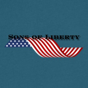 sons of liberty flag - Men's V-Neck T-Shirt by Canvas