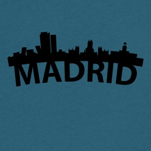 Arc Skyline Of Madrid Spain - Men's V-Neck T-Shirt by Canvas