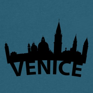 Arc Skyline Of Venice Italy - Men's V-Neck T-Shirt by Canvas