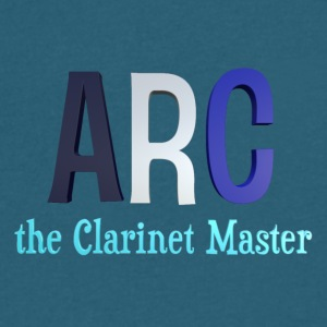 ARC the Clarinet Master - Men's V-Neck T-Shirt by Canvas