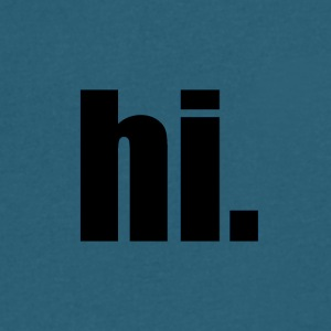 Hi. - Men's V-Neck T-Shirt by Canvas