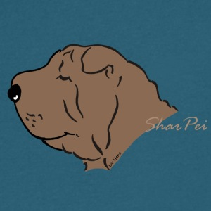 Shar Pei Silhouette - Men's V-Neck T-Shirt by Canvas