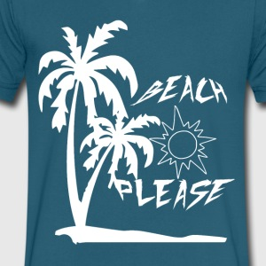 Beach Please Shirt- Summer Shirts - Men's V-Neck T-Shirt by Canvas