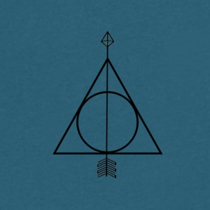 Deathly Hallows Geometric Arrow - Men's V-Neck T-Shirt by Canvas