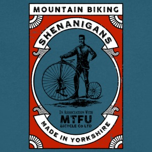Mountain Biking Shenanigans - Men's V-Neck T-Shirt by Canvas