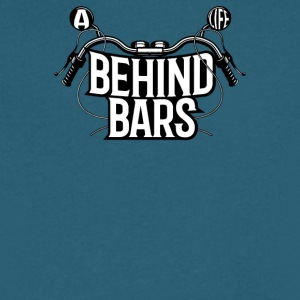 A Biker Life Behind Bars - Men's V-Neck T-Shirt by Canvas