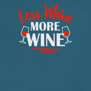 Less Whine More Wine - Men's V-Neck T-Shirt by Canvas