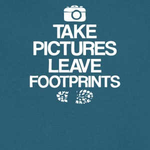 Take Pictures Leave Footprints - Men's V-Neck T-Shirt by Canvas