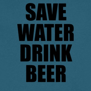SAVE WATER DRINK BEER - Men's V-Neck T-Shirt by Canvas