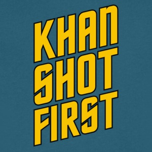 Who Shot First - Men's V-Neck T-Shirt by Canvas