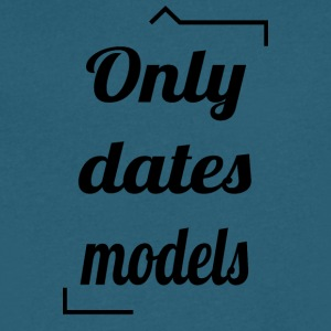 Only dates models - Men's V-Neck T-Shirt by Canvas
