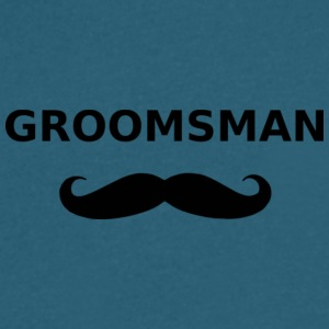groomsman - Men's V-Neck T-Shirt by Canvas