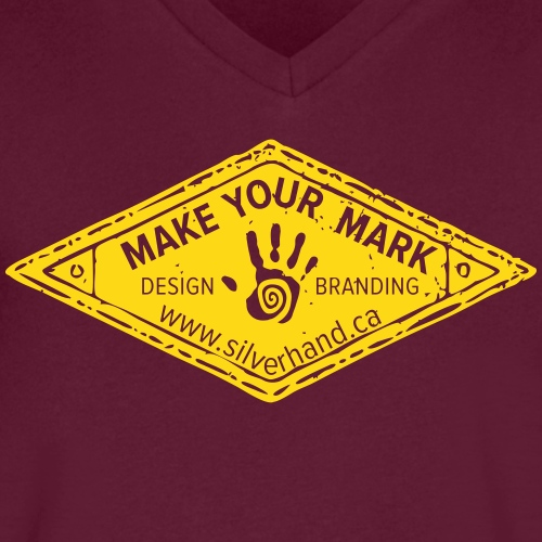 Make your mark crest tee - Men's V-Neck T-Shirt by Canvas