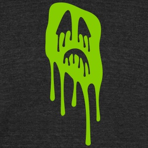 slimy grimace - halloween - Unisex Tri-Blend T-Shirt by American Apparel