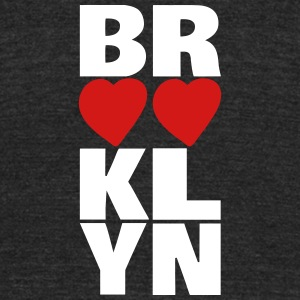 Brooklyn Hearts Vertical Graphic - Unisex Tri-Blend T-Shirt by American Apparel