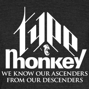 Type Monkey - Unisex Tri-Blend T-Shirt by American Apparel