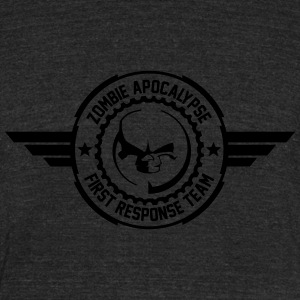 Zombie apocalypse first responder team - Unisex Tri-Blend T-Shirt by American Apparel