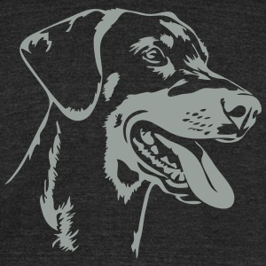 Doberman Pinscher - Unisex Tri-Blend T-Shirt by American Apparel
