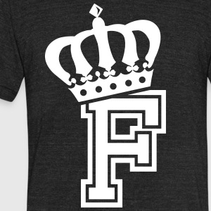 Name: Letter F Character F Case F Alphabetical F - Unisex Tri-Blend T-Shirt by American Apparel