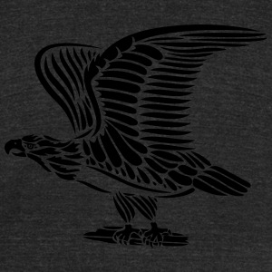 Tattoo eagle with wings. - Unisex Tri-Blend T-Shirt by American Apparel