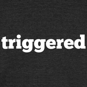 Triggered: Official logo of the Youtube Channel - Unisex Tri-Blend T-Shirt by American Apparel