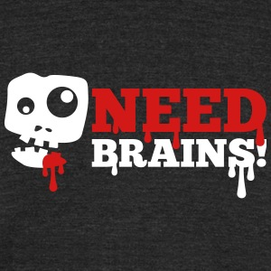 zombie brain halloween - Unisex Tri-Blend T-Shirt by American Apparel