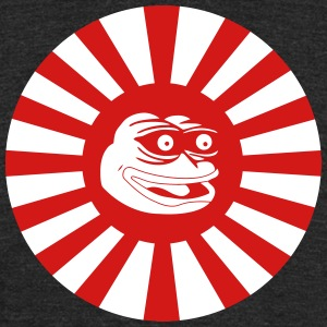 Kamikaze Japanese Pepe the Frog - Unisex Tri-Blend T-Shirt by American Apparel