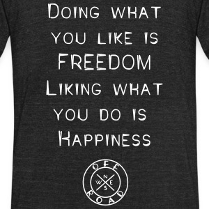 freedom-happiness - Unisex Tri-Blend T-Shirt by American Apparel
