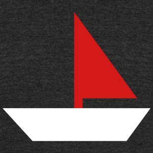 sailboat - boat - Unisex Tri-Blend T-Shirt by American Apparel