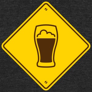 Beer Road Sign - Unisex Tri-Blend T-Shirt by American Apparel