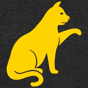 cat silhouette - Unisex Tri-Blend T-Shirt by American Apparel