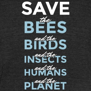 Safe the bees... and the planet! - Unisex Tri-Blend T-Shirt by American Apparel