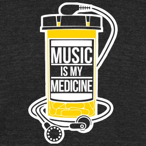 Music is my medicine - Unisex Tri-Blend T-Shirt by American Apparel