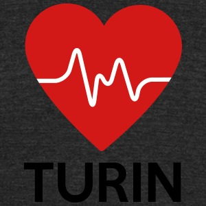 Heart Turin - Unisex Tri-Blend T-Shirt by American Apparel