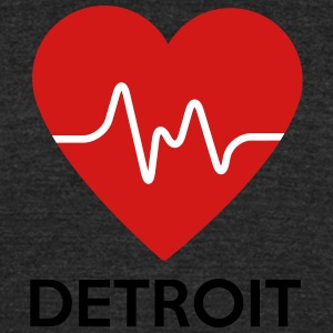 Heart Detroit - Unisex Tri-Blend T-Shirt by American Apparel