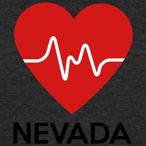 Heart Nevada - Unisex Tri-Blend T-Shirt by American Apparel