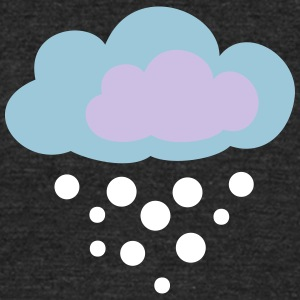 cloud - winter - snow - Unisex Tri-Blend T-Shirt by American Apparel
