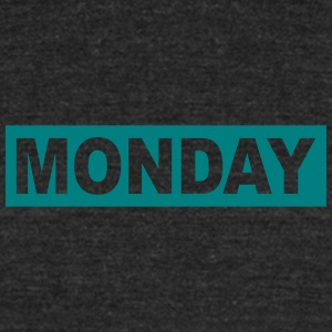 MONDAY - Unisex Tri-Blend T-Shirt by American Apparel