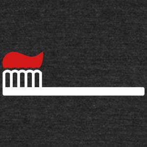 Toothbrush with toothpaste - Unisex Tri-Blend T-Shirt by American Apparel