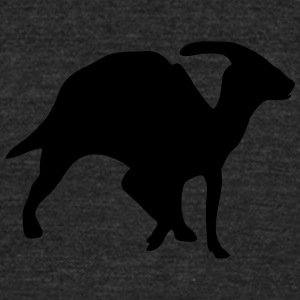 Dinosaur vector Silhouette - Unisex Tri-Blend T-Shirt by American Apparel
