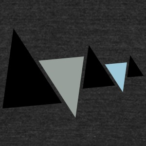 Mountains and Valleys - Unisex Tri-Blend T-Shirt by American Apparel