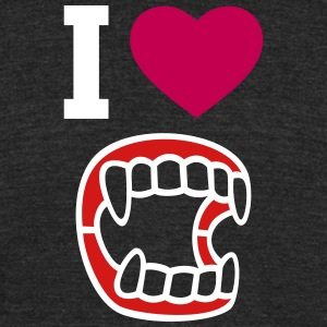 I love vampire - Unisex Tri-Blend T-Shirt by American Apparel