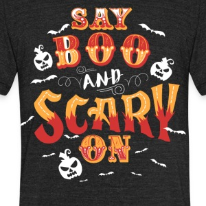 Scary On Halloween T-shirts - Unisex Tri-Blend T-Shirt by American Apparel
