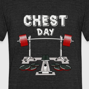 Chest Day T-shirt - Unisex Tri-Blend T-Shirt by American Apparel