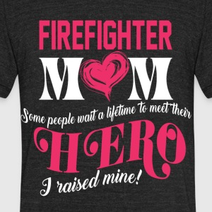 Firefighter Mom T Shirt - Unisex Tri-Blend T-Shirt by American Apparel